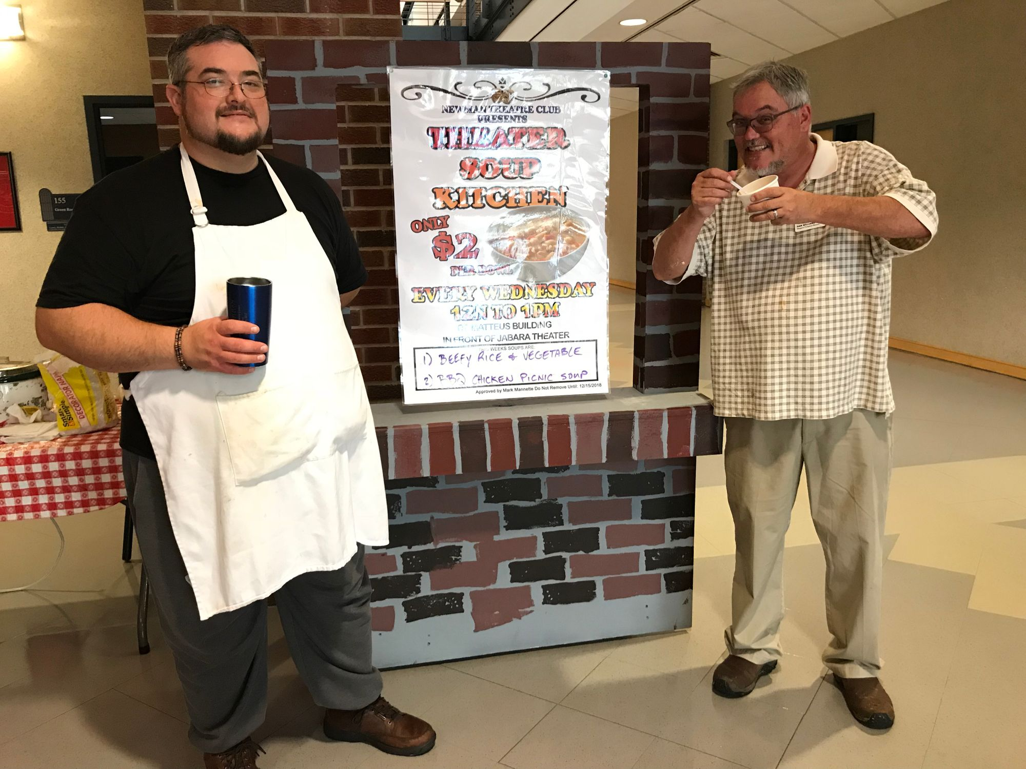 New tech director serving up soup for a cause