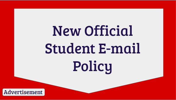 New Official Student E-mail Policy