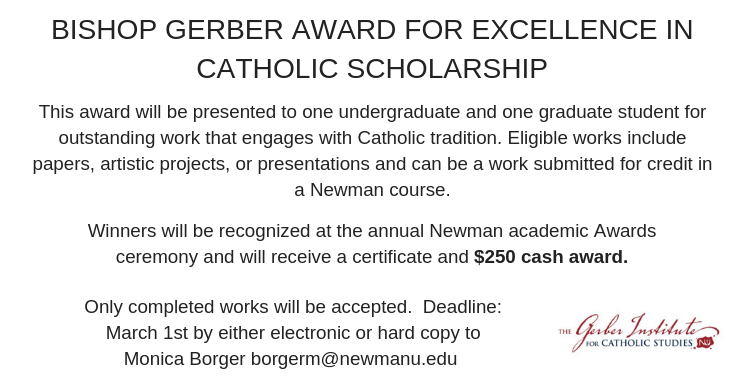 AD: Bishop Gerber Award