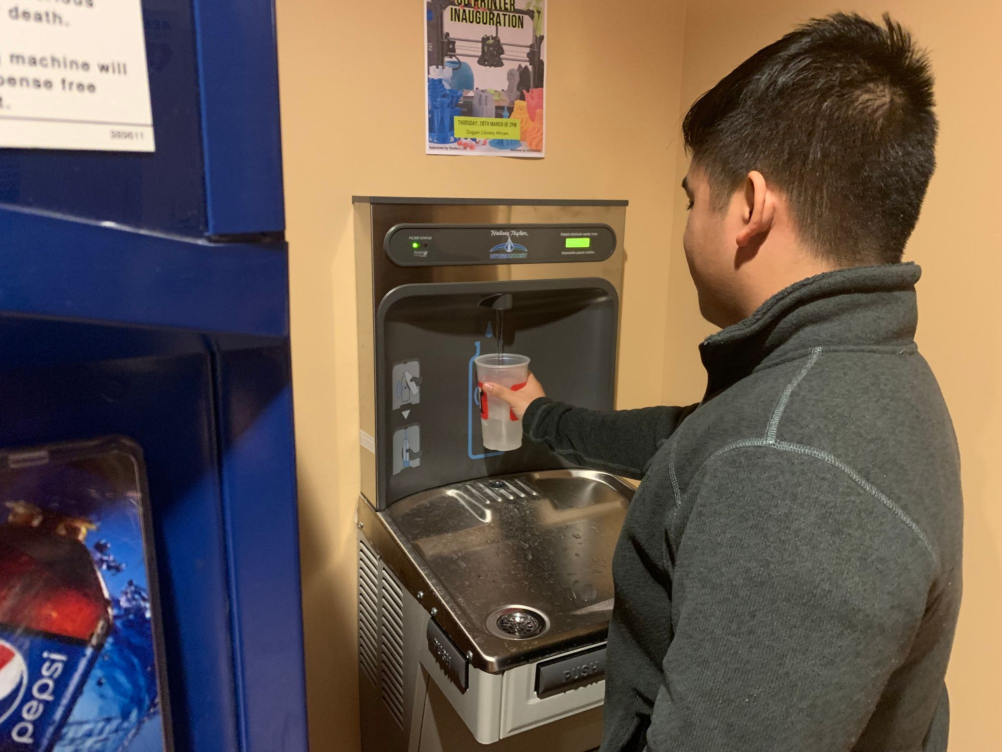 Water fountains get upgraded to fill stations