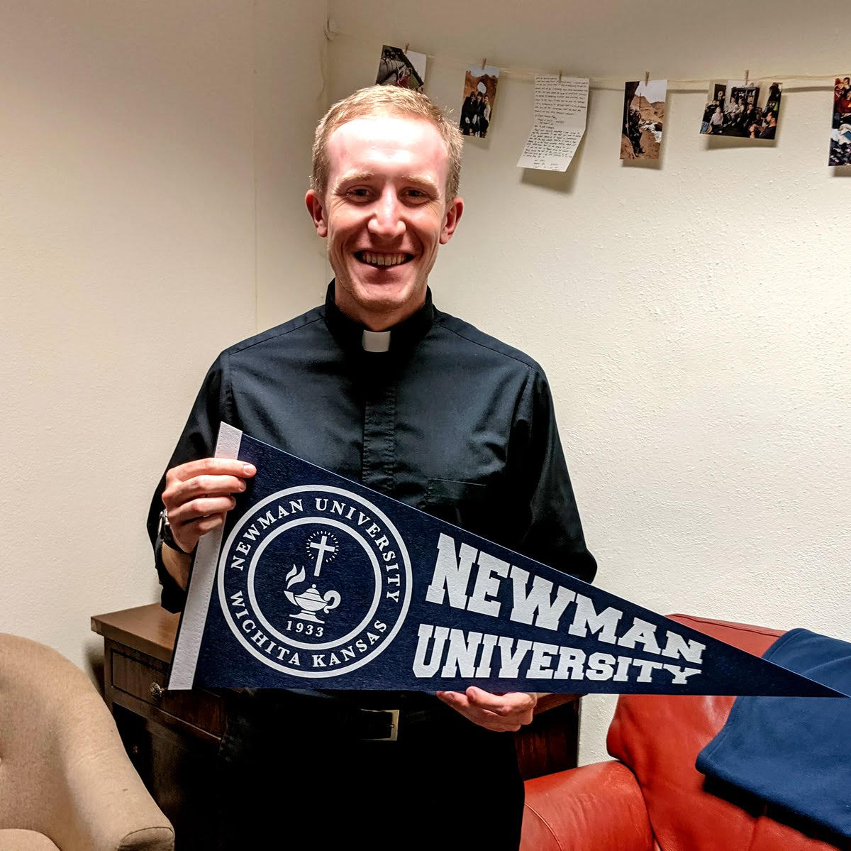 Meet Newman's new chaplain, Father Adam