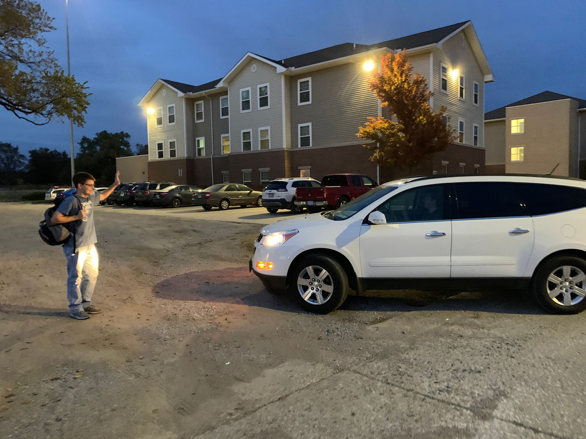 Students complain about potholes in Fugate lot