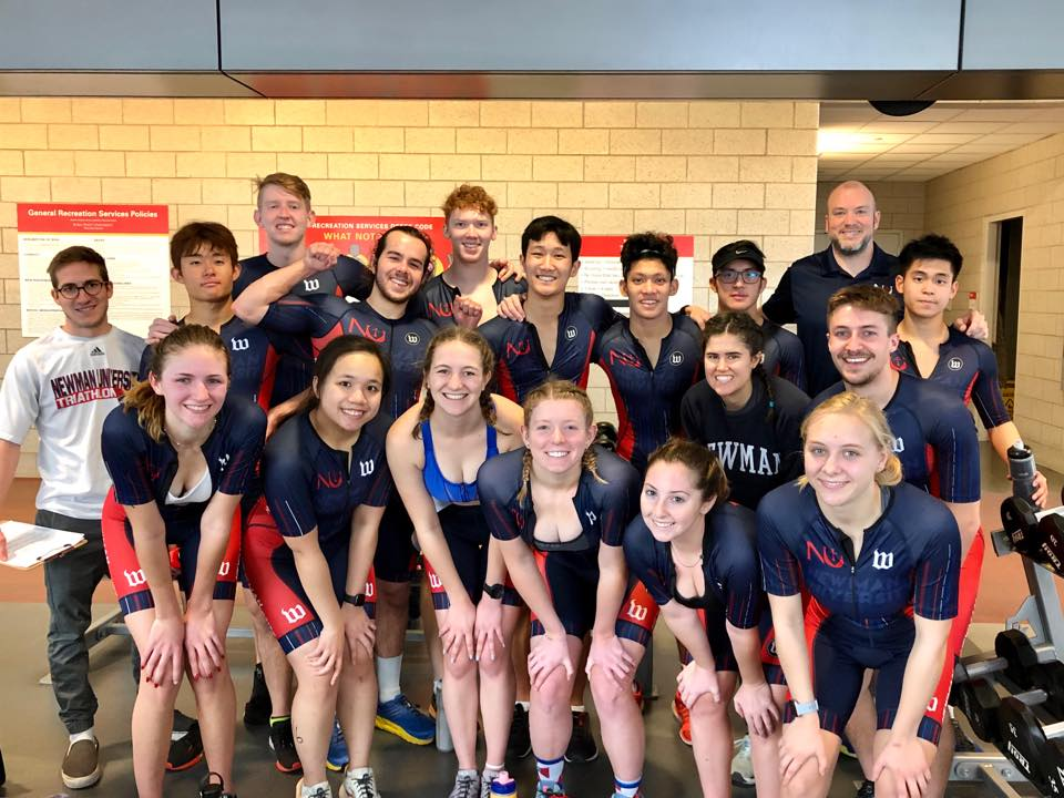 Triathletes set personal records at first meet of the semester