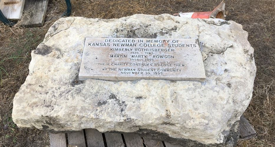 Memorial stone still not put back after construction